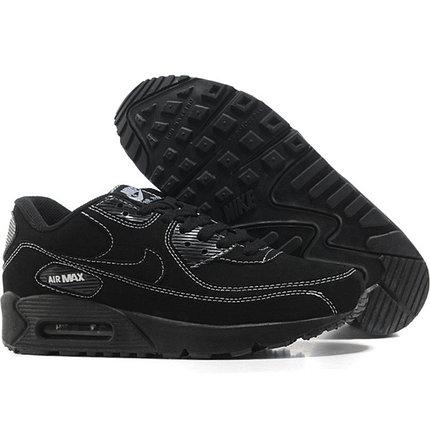 Nike Air Max 90 кроссовки черные,замша, фото 2
