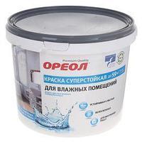 Краска водно-дисперсионная Ореол белоснежная суперстойкая для влажных помещ 6,5 кг (комплект из 2 шт.)