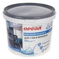 Краска водно-дисперсионная Ореол для внутренних работ моющаяся 6,5 кг