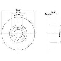 Тормозные диски Bmw 5 518 (E34) (передние,Optimal, невент.), фото 1