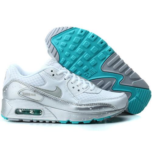 Nike Air Max 90 кроссовки бело-серые