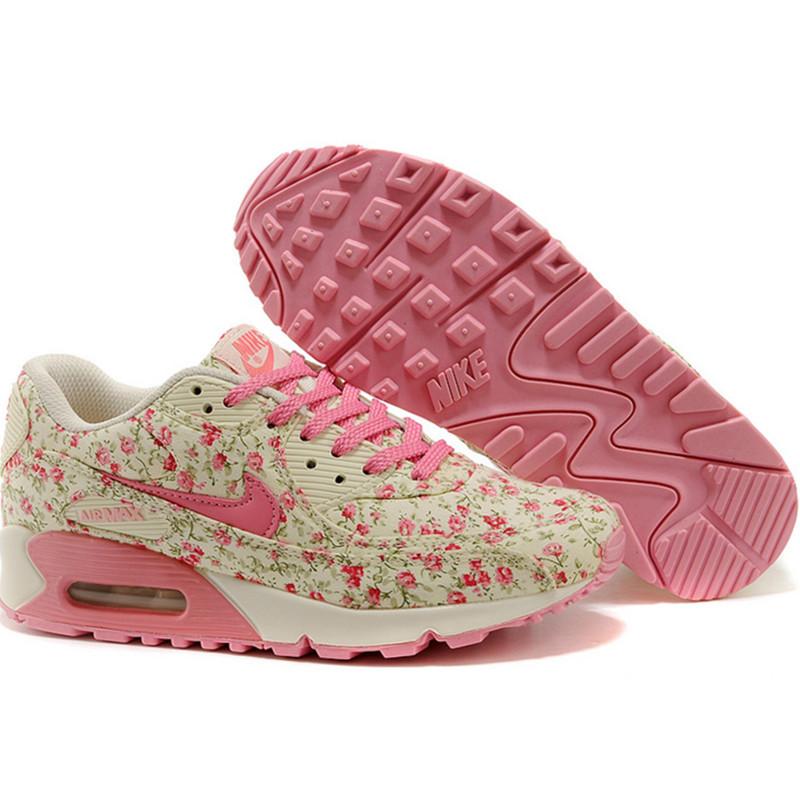 Nike Air Max 90 женские кроссовки цветок