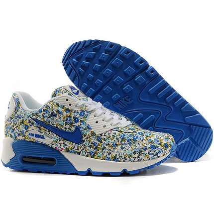 Nike Air Max 90 женские кроссовки синие, фото 2