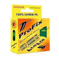 Леска плетёная Aqua ProFix Dark green, d0,10 мм, 100 м, нагрузка 6,5 кг