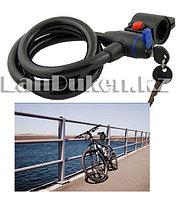 Велосипедный тросовый универсальный замок (спираль) на ключе 830mm