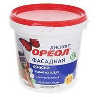 Краска водно-дисперсионная  Ореол для наруж. работ  1,5 кг (комплект из 4 шт.)