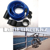 Велосипедный тросовый универсальный замок (спираль) на ключе 830mm (диаметр 80mm)