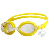 Очки для плавания, детские  беруши, цвета МИКС