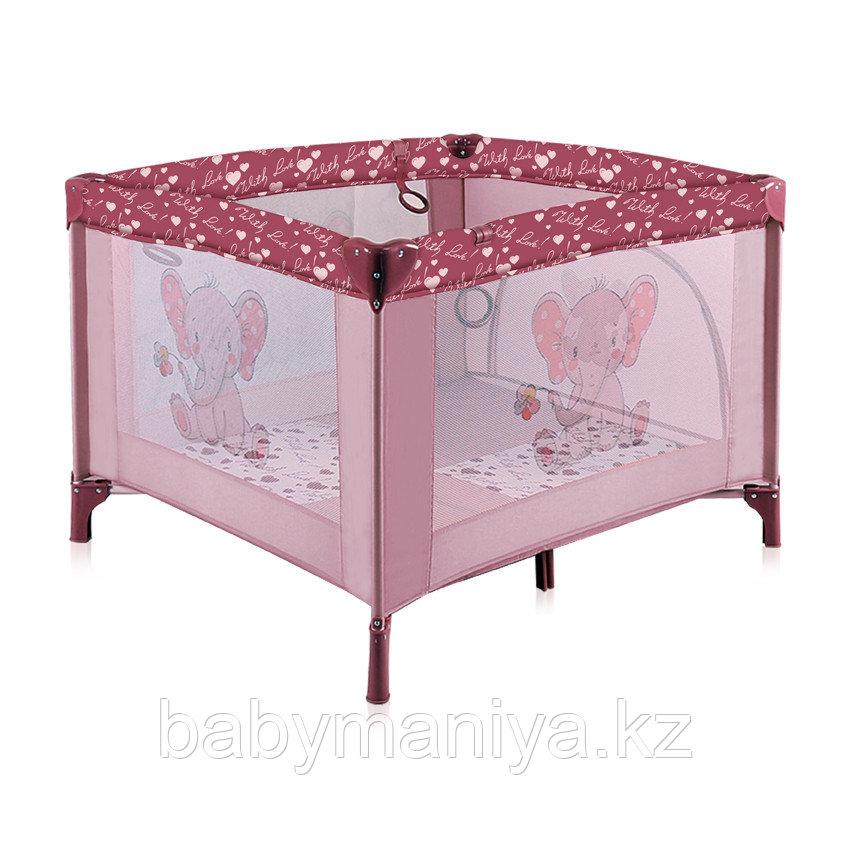 Детский игровой манеж Lorelli Play Station Серый / Grey Розовый / Pink ELEPHANT 1801