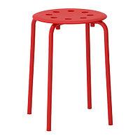 Табурет МАРИУС красный  ИКЕА, IKEA, фото 1