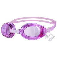 Очки для плавания  беруши, взрослые, цвета МИКС
