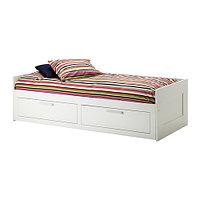 Кровать кушетка БРИМНЭС с 2 ящиками ИКЕА, IKEA, фото 1