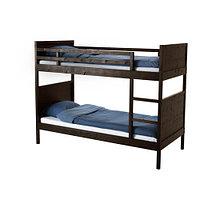 Кровать-каркас 2х-ярусный НОРДАЛЬ черно-коричневый ИКЕА, IKEA, фото 1