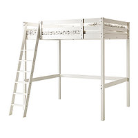 Кровать-чердак каркас СТУРО белая морилка ИКЕА, IKEA, фото 1