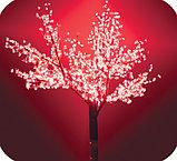 """Cветодиодное дерево  """"Сакура"""" 2 м. Цвет: зеленый, красный, желтый, синий,белый, розовый, фото 2"""