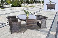 Стол квадратный с 4 креслами