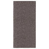 Ковёр длинный ворс АЛЛЕРСЛЕВ 57х120 коричневый ИКЕА, IKEA  , фото 1