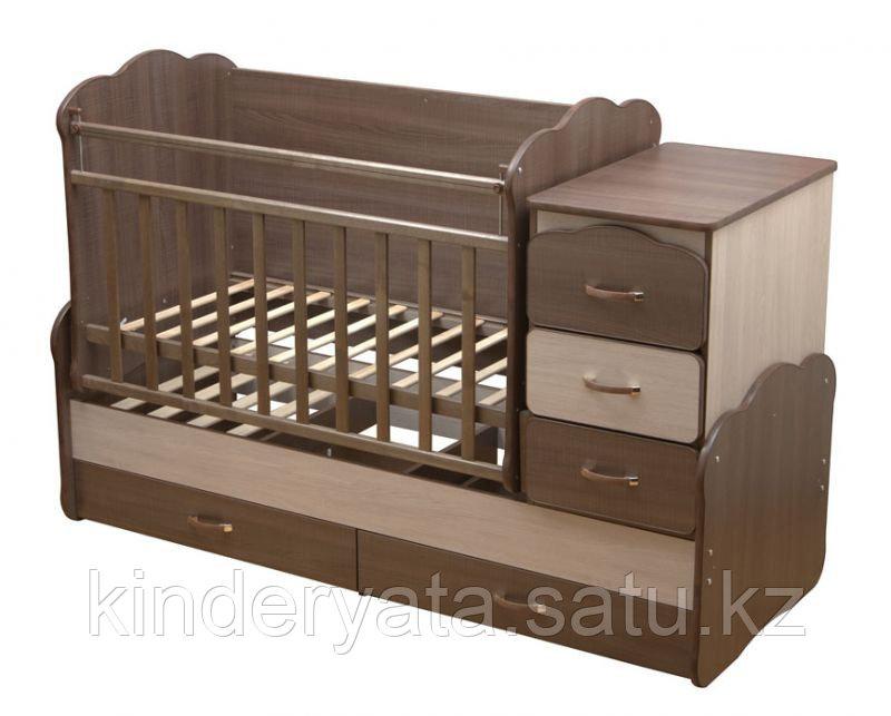 Детская кровать-трансформер 5-в-1 Оле лукойе с маятниковым механизмом