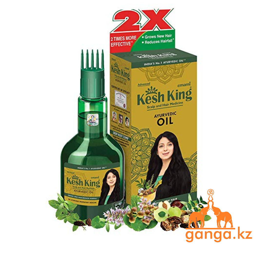 Аюрведическое масло для поврежденных волос Кеш Кинг (Ayurvedic Medicinal Oil Kesh King), 100мл