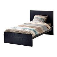 Кровать каркас МАЛЬМ черно-коричневый 90х200 ИКЕА, IKEA , фото 1