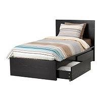 Кровать +2 кроватных ящика МАЛЬМ 90х200 Лурой ИКЕА, IKEA