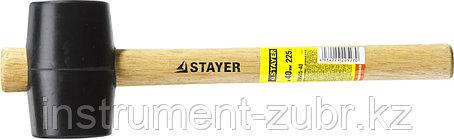 Киянка STAYER резиновая черная с деревянной ручкой, 225г, фото 2