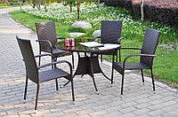 Стол круглый с 4 стульями, фото 1