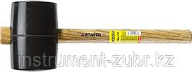 Киянка STAYER резиновая черная с деревянной ручкой, 1130г