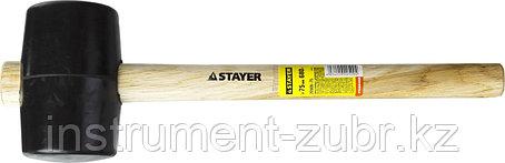 Киянка STAYER резиновая черная с деревянной ручкой, 680г, фото 2