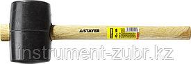 Киянка STAYER резиновая черная с деревянной ручкой, 900г