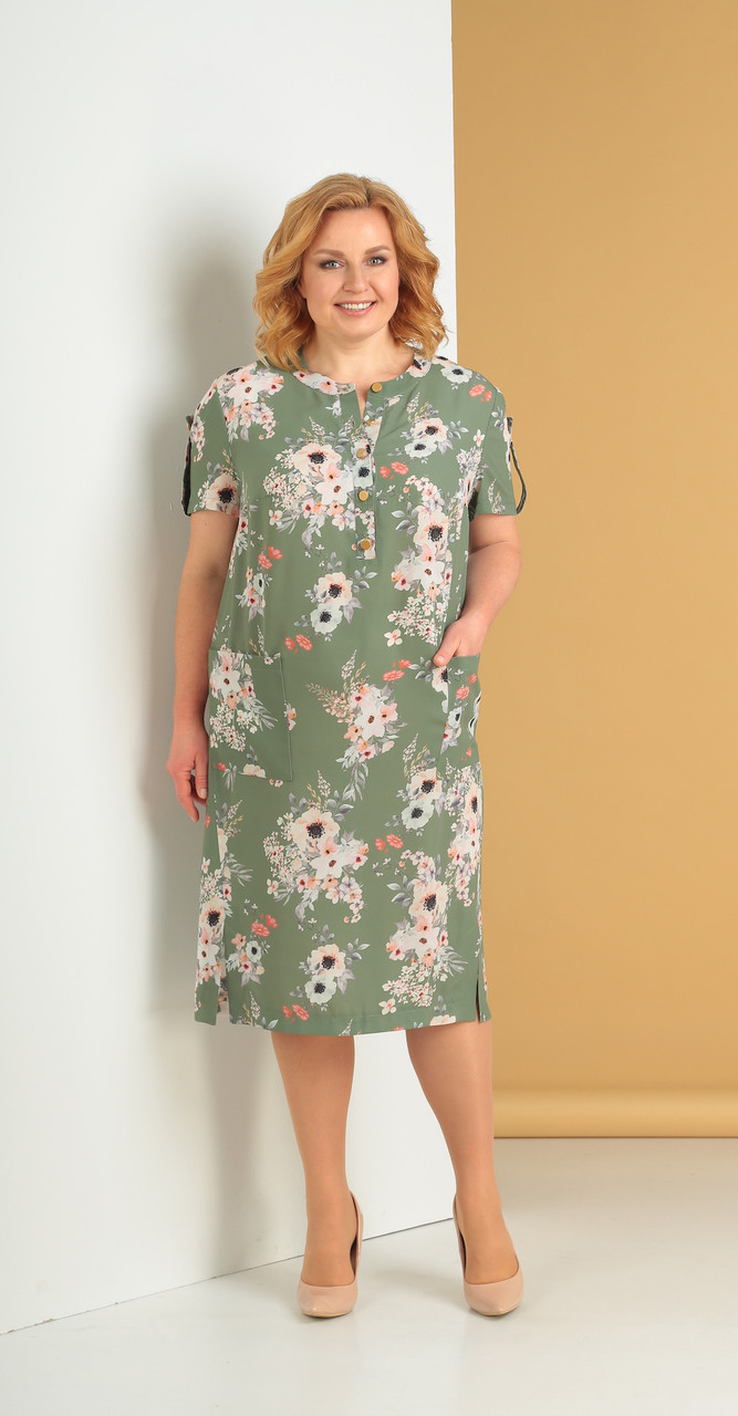 Платье Novella Sharm-3242, зеленый, 58
