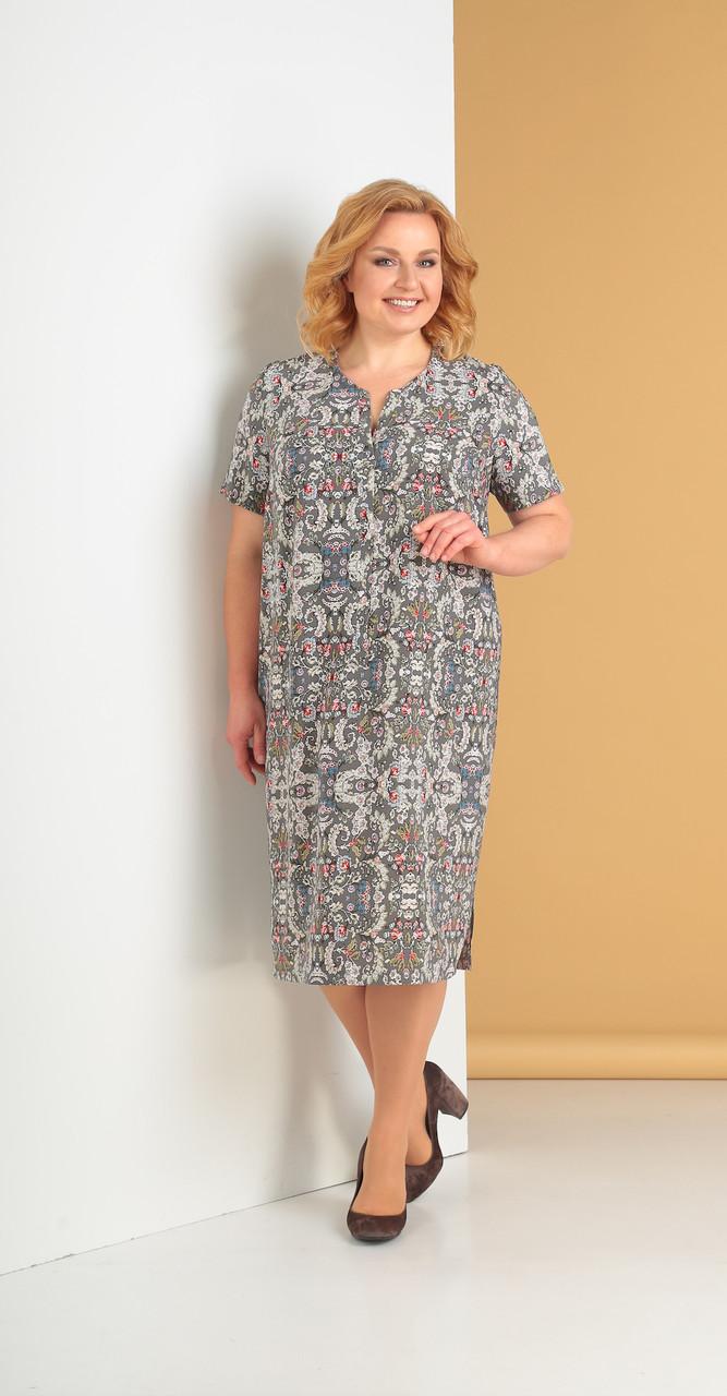 Платье Novella Sharm-3262, орнамент, 66