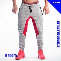 Зауженные штаны Gym Aesthetics светлые с красным, фото 1