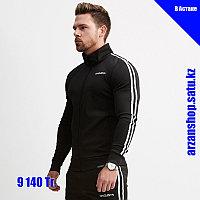 Спортивная куртка с полосками VQ черная, фото 1