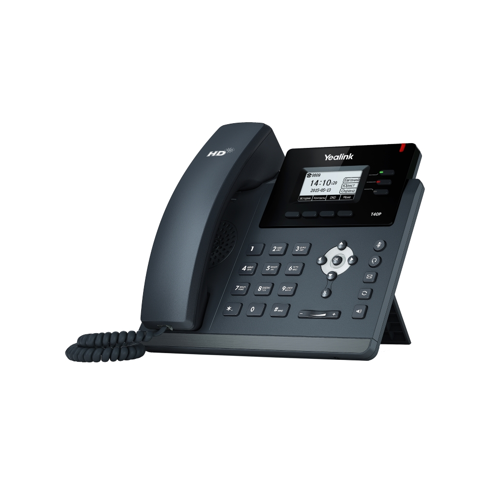 IP телефон Yealink SIP-T40P (без блока питания)