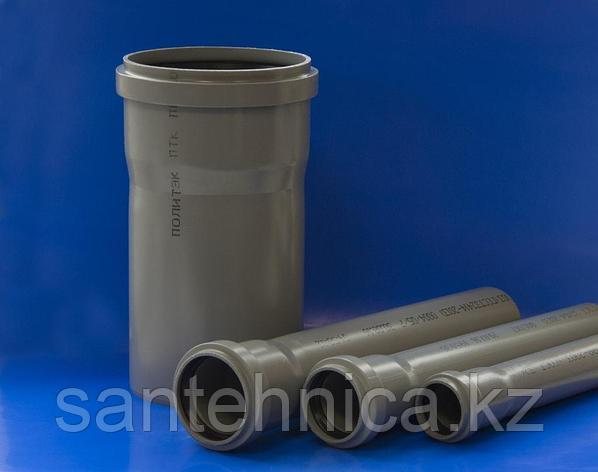 """Труба с раструбом канализационная серая ПП Дн 110*2,2 L=0,75м """"Политэк"""", фото 2"""