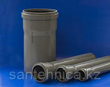 """Труба с раструбом канализационная серая ПП Дн 50*1,5 L=1,5м """"Политэк"""""""