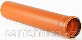 Труба с раструбом канализационная оранж. НПВХ Дн 110*3,2 L=1м Россия наруж.