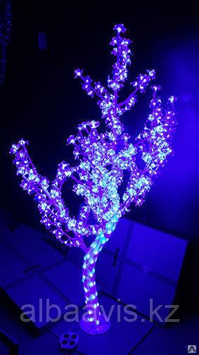 LED дерево акриловое 1,5м Цвет: красный, розовый, белый, синий, желтый