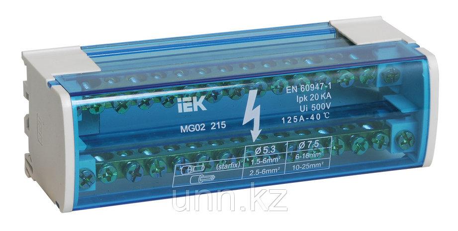 Шина на дин-рейку в корпусе 2*15 групп ИЭК, фото 2