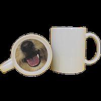 Кружка керамическая белая принт собачка