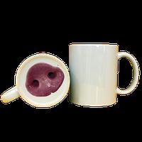 Кружка керамическая белая принт свинка