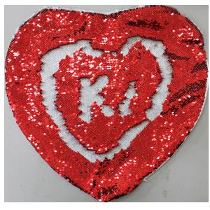 Наволочка с пайетками+ подушка Сердце