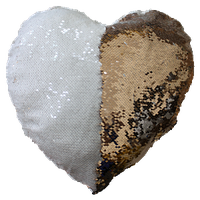 Наволочка с пайетками +подушка Сердце