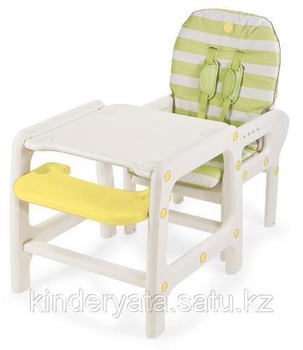 "Стульчик для кормления Happy Baby ""OLIVER"" light green"