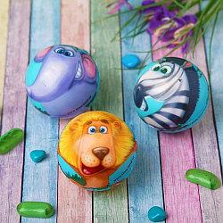 "Мягкий мяч ""Весёлые зверята"", 6,3 см"