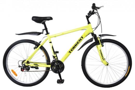 Велосипед Torrent City Cruiser, Зеленый-желтый