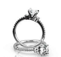Золотое кольцо c центральным бриллиантом от 0,29Ct, фото 1
