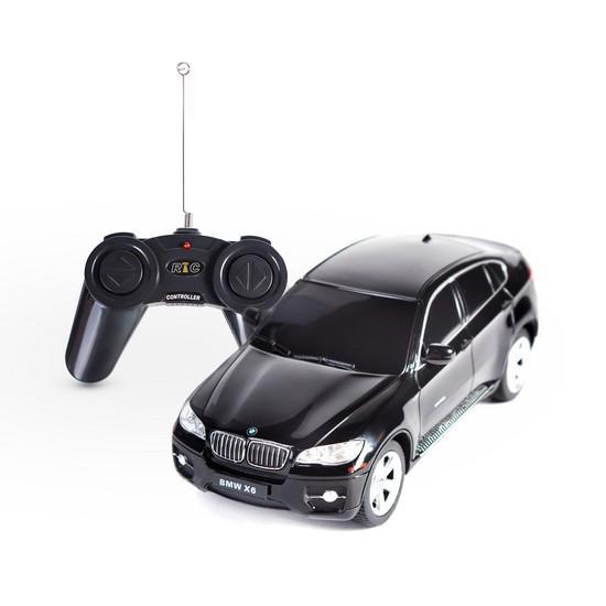 Радиоуправляемая модель автомобиль Rastar BMW X6, 1:24, Управление: Джойстик, Материал: Пластик, Цвет: Чёрный,