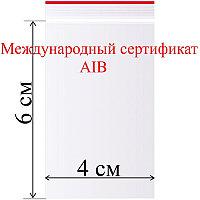 Пакет с замком (зип лок) 4*6 см 100 шт/в пачке, 30,9 мкм